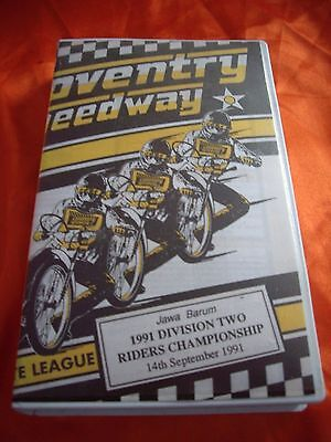 Division Two Speedway Riders Championship Video Coventry 14 Sept 1991