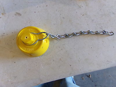 """Yellow Fire Hydrant Cap 2.5"""" , Jones 2-1/2"""" With Chain 23-0547 - New"""