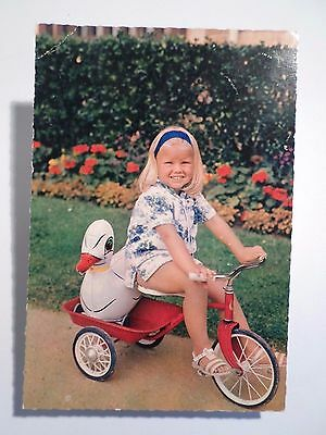 Postcard Lovely Girl Children Child & Bike Velo Tricycle Toys Toy 1960 Years Z1