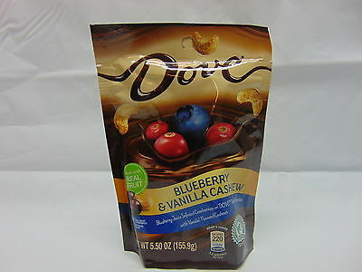 4-PACK Dove Blueberry & Vanilla Cashew Chocolate Infused Cranberries 5.5 oz.