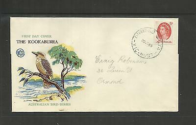 AUSTRALIA FDC FIRST DAY COVER ~ 1965 QE II 5d RED DEFINITIVE