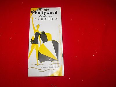 VINTAGE HOLLYWOOD by THE SEA FLORIDA VACATION TRAVEL  BROCHURE