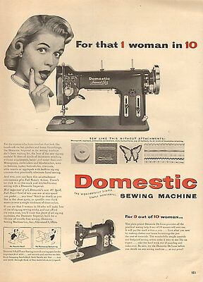 1946 vintage AD DOMESTIC SEWING MACHINE DeLuxe and Imperial models 090416