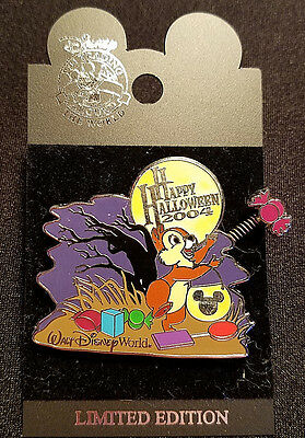 Rare 2004 Walt Disney World Halloween Trick Or Treat Collection Chip Pin Le 1500