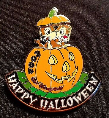 Rare 2004 Walt Disney World Happy Halloween Chip & Dale Slider Pin Le 2500