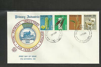 Australia Fdc First Day Cover ~ 1969 Primary Industries