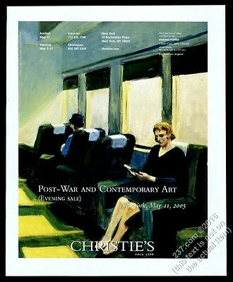 2005 Edward Hopper Chair Car painting Christie's vintage print ad