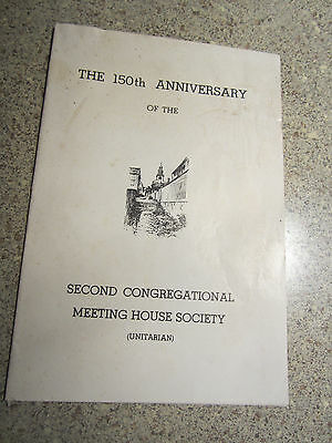 The 150th Anniversary of the Second Congregational Meeting House Soc., Nantucket