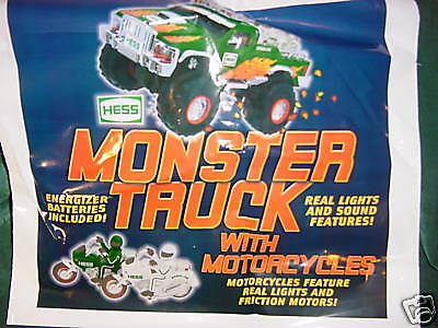 Christmas Xmas Holiday Trucks 2007 Hess Toys Monster Pick Up With  Motorcycles