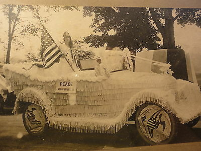 WWI Era Windsor Dry Goods VT 4th July Parade Float Mounted PHOTO Antique