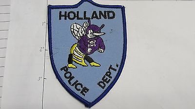 Old Holland Police Dept Hlpd Holl Land Colorful Hornet Purple State Texas Patch