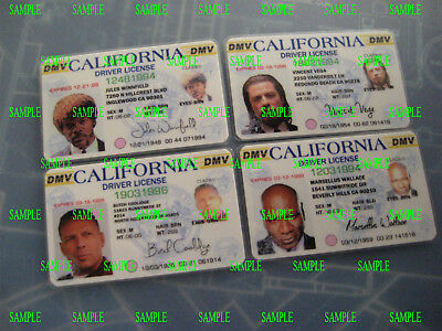 Pulp Fiction - License's - Set of Four - Prop - Cosplay - Novely - B3G1F