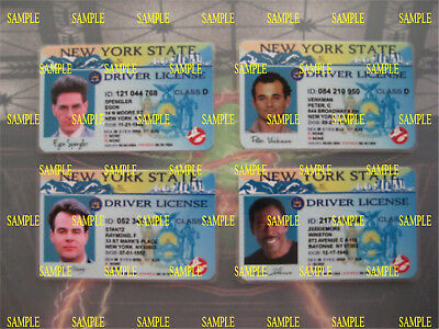 Ghostbusters - Custom Made - License's - Set of Four - Prop - Novely - B3G1F