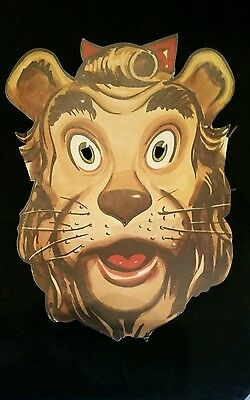 Extremely Rare Wizard of Oz 1939 Lowe's Cowardly Lion Paper Mask VGC Movie