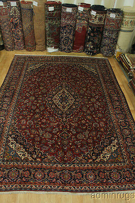 Extra Fine Masterpiece Floral Kashan Persian Wool Oriental Area Rug Carpet 11X15