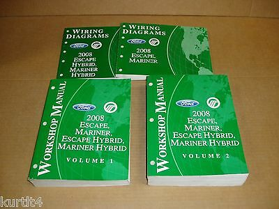 2008 Ford Escape Mercury Mariner Hybrid shop service wiring repair manual