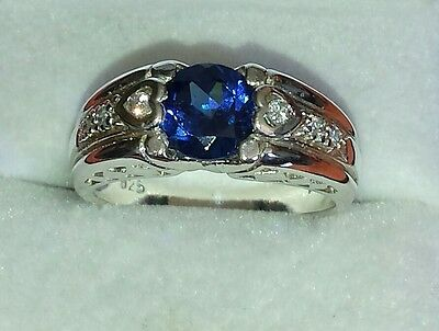 925 silver blue stone ring,Sz 7