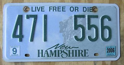 LIVE FREE OR DIE - NEW HAMPSHIRE license plate  2006  471 556