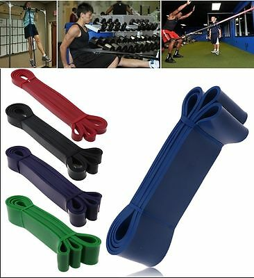 Resistance Band Stretch Elastic Loop Gym Yoga Workout Strength Training Exercise