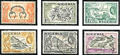 Nigeria - 1953 QE Set Complete to One Pound Used