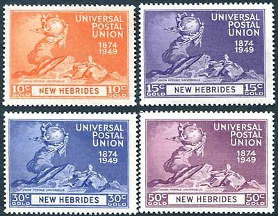 New Hebrides - 1949 UPU Set Fresh Mint Never Hinged