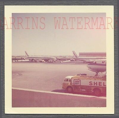 Vintage Photo United Airlines McDonnell Douglas Airplane Shell Truck 724577