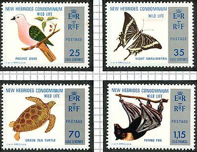 New Hebrides - 1975 Conservation Set Lightly Mounted Mint