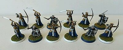 12 x Warriors of the Last Alliance well painted plastic models LOTR The Hobbit