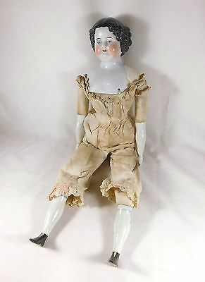 "Big Antique China Head Doll 20"" Nice China Hands & Legs"