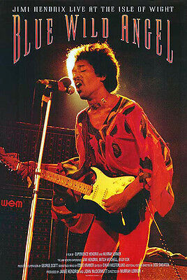 Jimi Hendrix - Blue Wild Angel (2002) original movie poster single-sided rolled