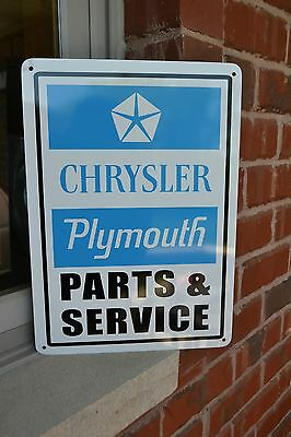 Plymouth Parts Service SIGN Mopar Hemi Jeep Charger Mechanic Garage Shop 7day