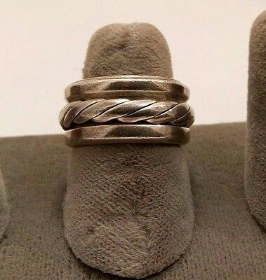 Mexico Sterling Silver Spinner Worry Ring. Size 6.