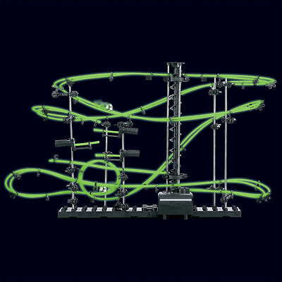 Marble Run Building Toy Glow In The Dark Rail Race Track 10M Building Puzzle