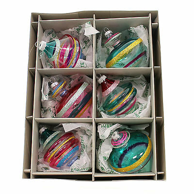 Christopher Radko SHINY BRITE VC DECORATED SHAPES Glass Ornament 4026831