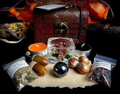 Witches Samhain Blessing Chest Scrying Wiccan Pagan Divination Gift