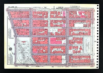1955 Bromley New York City Map Chelsea Gramercy Union Square Stuyvesant Xavier