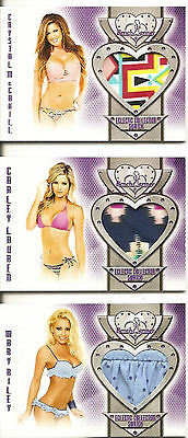 2016 BENCHWARMER ECLECTIC SERIES 2 SWATCH CARD #90 CRYSTAL McCAHILL  PANTIES
