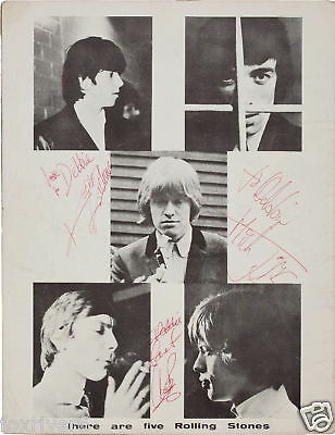 ROLLING STONES Signed Photograph - Rock Group Stars