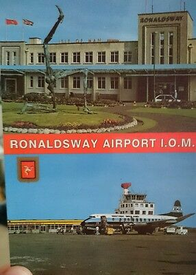 IoM Ronaldsway Airport Postcard