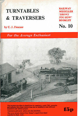 TURNTABLES & TRAVERSERS Railway Modeller Series No 10 published peco undated