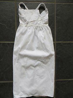 White Flannelette Baby Nightgown, In Very Good Vintage Condition
