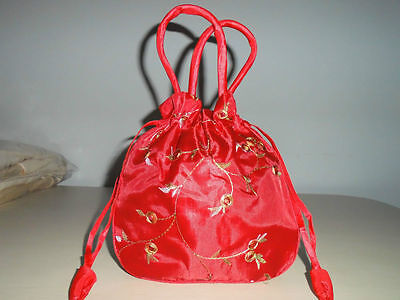 Red Hot sale new stock Chinese silk embroidered bags handmade-080