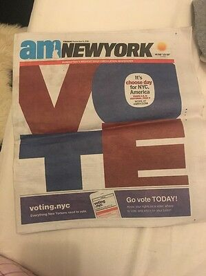 AM New York Election Day Trump Newspaper History