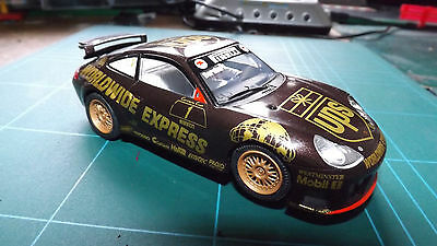 SCALEXTRIC PORSCHE 911 GT3R CAR With Lights & All New Tyres !