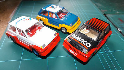 SCALEXTRIC 3 x MG Metro Cars With New Rear Tyres !