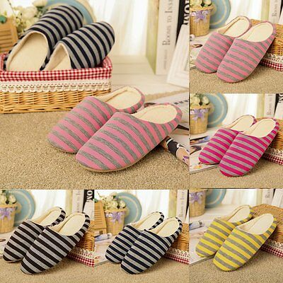 Women Men Indoor Slippers Winter Warm Anti-slip Shoes Soft Cotton Home Sandals