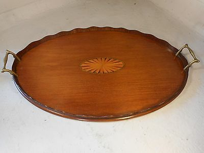 Antique inlaid Mahogany Tray   ref 1899