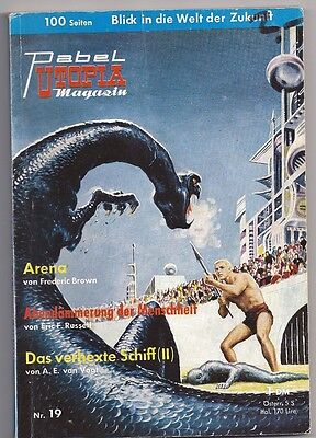 Utopia Magazin Nr.19 mit Frederic Brown Eric F. Russell  A. E. Vogt Pabel Verlag