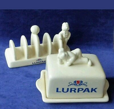 Collectable Lurpak Douglas toast rack and butter dish mint condition