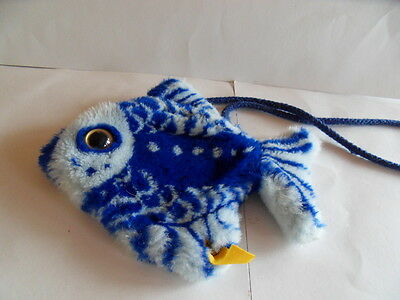 Steiff Fish bag fish  purse  button flag  made in Germany 1105